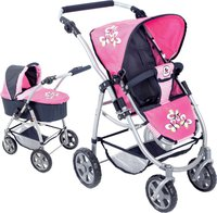 Bayer Chic Puppenwagen Emotion 3in1 All In pink checker