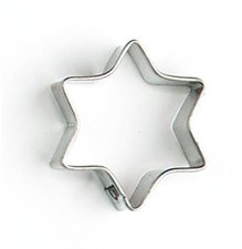 Glückskäfer Ausstechform Stern 6-zackig