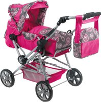 Bayer Chic Road Star Puppenwagen hot pink pearls