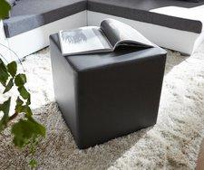 DeLife Sitzwürfel Dado schwarz (45 x 45 cm)