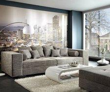 DeLife XXL Sofa Marlen hellgrau (300 x 140 cm)
