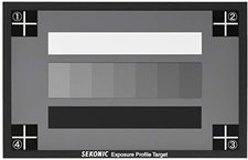 Sekonic L-758 Exposure Profile Target