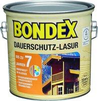 Bondex Dauerschutz-Lasur 2,5 l weiß 800