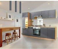 Respekta Küchenzeile Buche-grau 270 cm (KB270BGE)