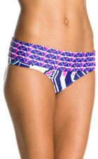 Roxy Damen Bikini Hose Foldover Brief, Deep Blue, XS, ARJX400047-PQS6