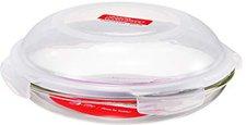 Lock&Lock Mikrowellen- Teller 24 cm rund mit Deckel