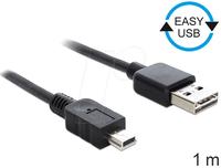 DeLock Kabel EASY-USB 2.0-A Stecker > USB 2.0 mini Stecker 1m (83362)