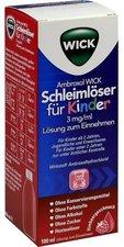 WICK Ambroxol Schleimlöser für Kinder 3mg/ml Lösung zum Einnehmen (100 ml)