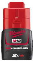 Milwaukee M12 Red Lithium-Ion 2,0 Ah Akku