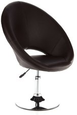 HJH Office Round Loungesessel Clubsessel braun
