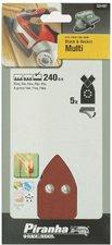 Piranha Schleifblatt-Set 5-tlg K 240 (X31457)