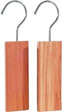 infactory Zedernholzblöcke mit Metallhaken gegen Motten 2er-Set