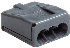 Jäger-Direkt 100 Stück Steckklemme VDE, 5x 2,5 mm grau (725.525)