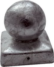 GAH Pfostenkappe für Holzpfosten mit Kugelkopf BxT: 100 x 100 mm
