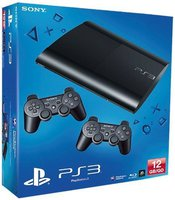 Sony PlayStation 3 (PS3) Super slim 12GB + 2 Controller