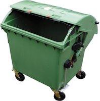 E/D/E Müllcontainer Kunststoff mit Runddeckel 1100 Liter grün