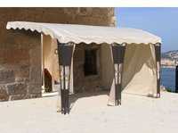 Grasekamp Seitenwandset 3tlg für Anbaupergola Rattan Mallorca