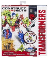 Hasbro Transformers Construct-A-Bots - Dinobot Warriors Optimus Prime & Gnaw Dino (A6165)