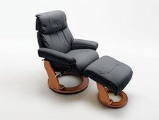 MCA-furniture Relaxsessel Winnipeg inkl. Hocker schwarz (64025SH5)