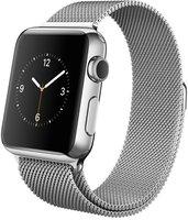 Apple Watch 38mm Edelstahlgehäuse mit Milanaise Edelstahlarmband