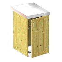 TraumGarten Mülltonnenbox Nadelholz für 1 x 240 Liter Tonne mit Pflanzschale