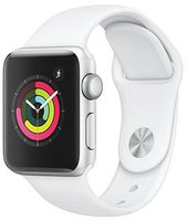 Apple Watch Sport Aluminiumgehäuse 38mm silber mit Sportarmband white
