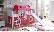 Ticaa Rutschbett Ekki - Landhaus rosa/weiß