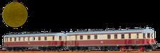 BRAWA Dieseltriebwagen VT 137 BC4vT 32-34 / Beiwagen VB 147 C4v-31-32 DR (44358)