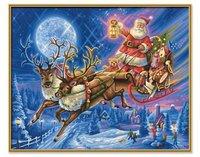 Schipper Malen nach Zahlen Der Weihnachtsmann mit Rentierschlitten