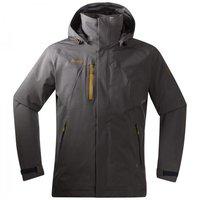 Bergans Flya Insulated Jacket Solid Dark Grey / Dark Mustard