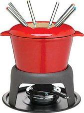 Kitchen Craft Mater Class Emailliertes Fondue-Set rot