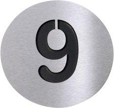 Radius Hausnummer 9 schwarz (Edelstahl)