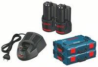 Bosch Clic & Go 10,8V Set 2 x 2Ah + 2 x L-Boxx + Ladegerät