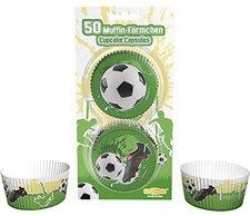 Dekoback Papier-Backförmchen Fußball 50 Stück