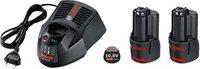 Bosch Starter-Set 2 x GBA 10,8 V 2,0 Ah O-B + AL 1130 CV Professional