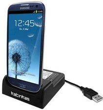 Katinkas Docking Station mit Akku-Ladegerät Samsung Galaxy S3/S4/S5