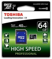 Toshiba microSDXC 64GB Class 10 UHS-I (SD-C064UHS1(6A)