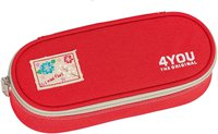 4You Pencil Case mit Geodreieck Just Red