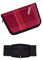 4You Igrec Zipper Pencilcase Checker Red Pink
