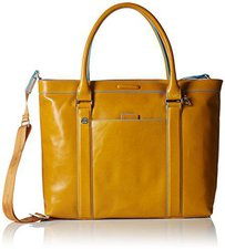 Piquadro Shopping bag Blue Square yellow (BD3145B2)