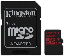 Kingston microSDHC 32GB Class 10 UHS-I U3 (SDCA3/32GB)