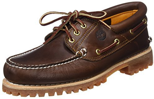 Timberland 3-Eye Handsewn Boat Shoe brown pull-up