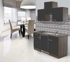 Respekta Küchenzeile 150cm grau Eiche York (KB150EYGC)