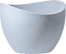 Scheurich Pflanzgefäß Wave 250 (60 cm) weiß granit