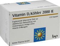 Köhler Vitamin D3 Köhler 2000 IE Kapseln (120 Stk.)