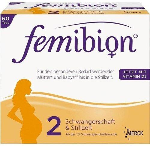 Merck Femibion Schwangerschaft 2 D3 + DHA + 400 µg Folat (2 x 60 Stk.)