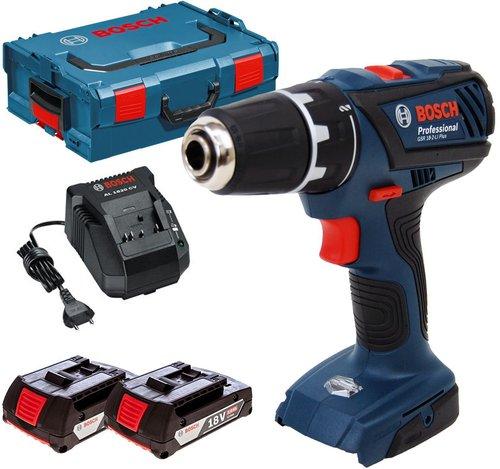 Bosch GSR 18-2-LI Plus Professional 2 x 2,0 Ah in L-Boxx (0 601 9E6 100)