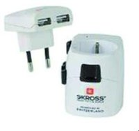 Skross World Travel Adapter + USB (1.302400)