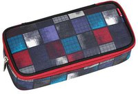 4You Pencil Case mit Geodreieck squares blue/red
