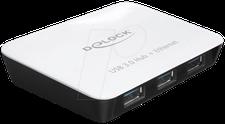 DeLock 3-Port USB 3.0-Hub mit Gigabit-LAN